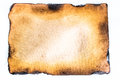 burnt paper. Royalty Free Stock Photo