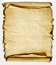 Burnt rough roll fabric light background Royalty Free Stock Photos