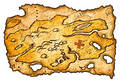 Burnt Treasure Map Royalty Free Stock Photography