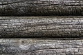 Burnt wooden house wall Royalty Free Stock Photo