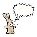 Burping rabbit cartoon Stock Photography