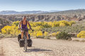 Burr trail road cycling the utah usa Royalty Free Stock Photography