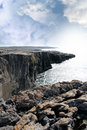 Burren cliff edge view Royalty Free Stock Photos