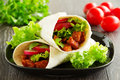 Burrito with pork Royalty Free Stock Photo
