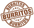 burritos brown grunge round rubber stamp