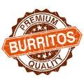 Burritos grungy stamp