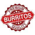 Burritos red vintage stamp