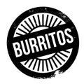 Burritos stamp rubber grunge