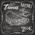 Burritos, tacos vector logo design template. fast