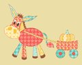 Burro patchwork Royalty Free Stock Photography