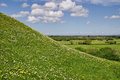 Burrow mump on a sunny may afternoon the hill is a historic site overlooking southlake moor in the village of burrowbridge Stock Photos