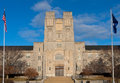 Burruss hall standing in front of at virginia tech Stock Images