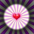 Burst heart Royalty Free Stock Photo