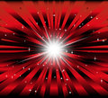Burst red and black background with ray and star light Royalty Free Stock Photo