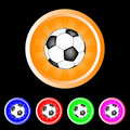 Burst soccer ball buttons Royalty Free Stock Photography