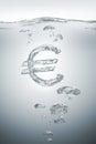 Bursting european economy Royalty Free Stock Photo