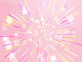 Bursting flying stars illustration Royalty Free Stock Photos