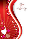 Bursting Valentine card Royalty Free Stock Images