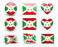 The Burundi flag Stock Photo