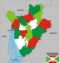 Burundi map Stock Image