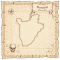 Burundi old pirate map.