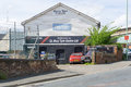 Bury tyre centre in bury st edmunds england may dealership of tyres town view from road Royalty Free Stock Photography