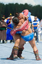 Buryat mongolian national wrestling in heavy weight ulan ude russia july two unidentified men compete during the th general Stock Photos