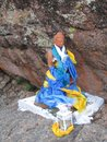 Buryatia.A small statue of Buddha in the rock.