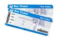 Bus boarding pass tickets Royalty Free Stock Photo