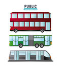 Bus cable car and railways vehicle design Royalty Free Stock Photo