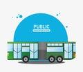 Bus city vehicle public transport