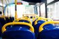 Bus empty seats Royalty Free Stock Photo