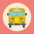 Bus flat vector illustration Stock Photography