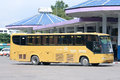 Bus of green bus company between chiangmai and chiangkhong thailand july photo at station thailand Stock Photography