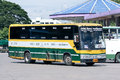 Bus of green bus company between chiangmai and golden triangle thailand april photo at station thailand Stock Image