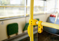 Bus handles for standing passengers Royalty Free Stock Photo