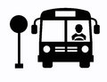 Bus icon this is file of eps format Stock Photos