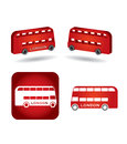 Bus icon set public transport concept on white background Royalty Free Stock Photo