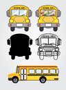 Bus icons over white background vector illustration Stock Photos