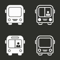Bus icons set.