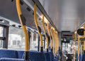 Bus interior the of the commuter Royalty Free Stock Image