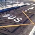 Bus lane Royalty Free Stock Photo