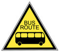 Bus route sign Royalty Free Stock Images