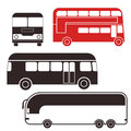 Bus set isolated objects on white background vector illustration eps Stock Images