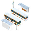 Bus and shelter. Royalty Free Stock Photo