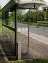 Bus shelter contemporary british suburban Royalty Free Stock Image