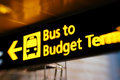 Bus sign Royalty Free Stock Photo