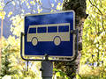 Bus sign Royalty Free Stock Images