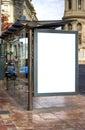 Bus Stop Advertisement Space Stock Photo
