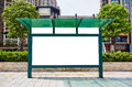 bus stop blank billboard Royalty Free Stock Photo